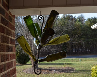 Hanging Bottle Tree Wrought Iron