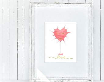 "LOVE Print: Love braincell - 8"" x 10"" - digital typography print - wall sign - wp_103"