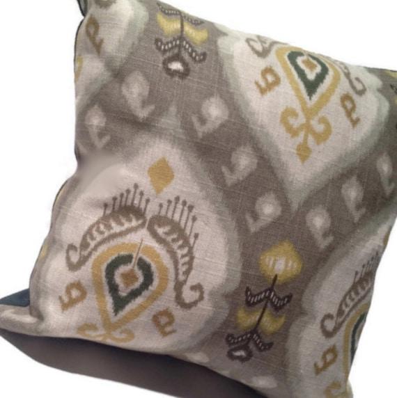 grey decorative throw pillow gold dark green home decor. Black Bedroom Furniture Sets. Home Design Ideas