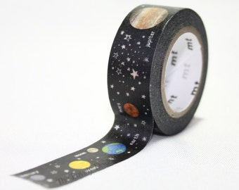 MT for Kids Planets Washi Tape  - planet solar system, galaxy, universe, sun, stars, rocket, spaceship, earth // Japanese Washi Masking Tape