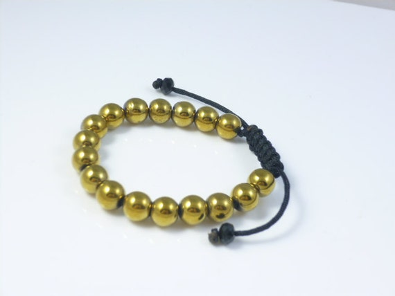 Gold Bead Brace... Gold Hematite Beads