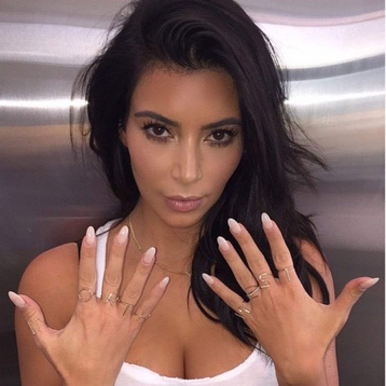 Natural Nails Kim Kardashian, Press On Nails, False Nails