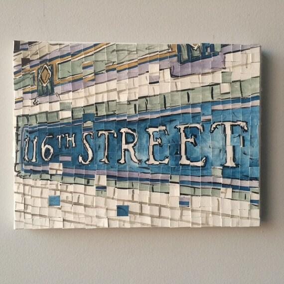 "116th Street Distortion 3: 9x12"""