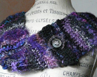 Vintage Button Purple Cowl