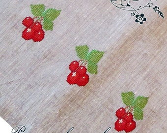 Kitchen towel 5  with hand embroidery