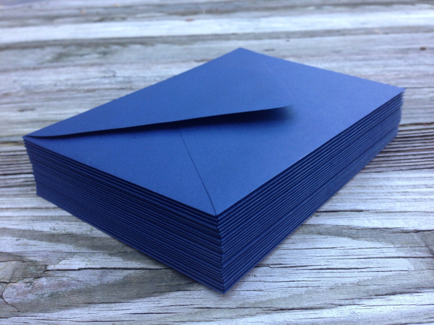 50 Navy Blue A7 5x7 Invitation Or A1 4bar Rsvp Pointed Flap