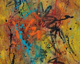 Abstract Acrylic || Urban Sunshine || Free Shipping