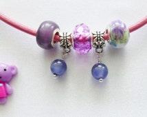 purpal charm beads wholesale choose sets floral lilac purpal bead drops for charm bracelets