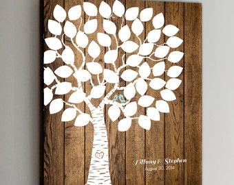 50 Guest CANVAS Wedding Guest Book Wood Wedding Tree Wedding Guestbook Canvas Alternative Guestbook Canvas Wedding Guestbook - Wood