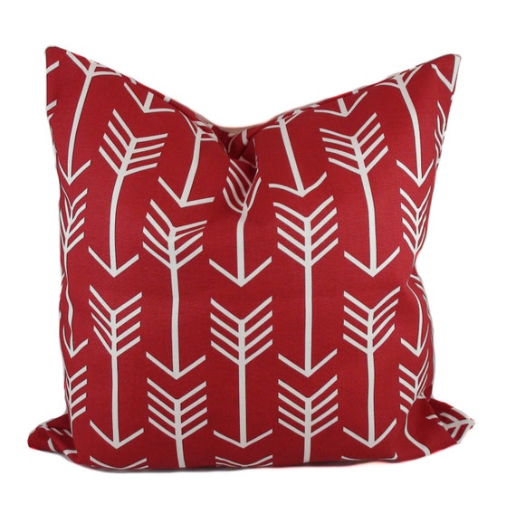 Red Throw Pillows Etsy : Red pillow cover Valentine pillow Decorative pillow Red