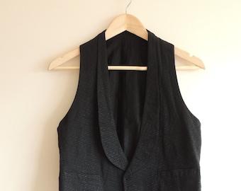 Vintage KAUFMANN'S black classic vest with buttons