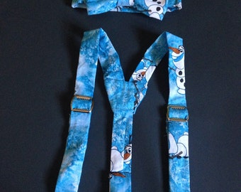 Olaf bow tie and suspender