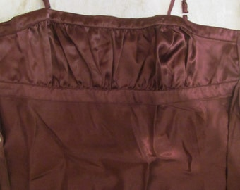 NWT   Halter  Top  brown  34 bust  lingerie  - baby doll top