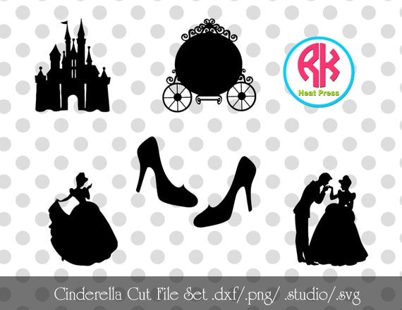 Cinderella Cut Files Set Png Dxf Svg By Rkheatpress On Etsy