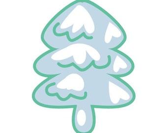 Snowy pine tattoo sticker by Fulden Bilgicatac