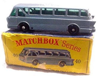 1960s Matchbox 40 Long Distance Tiger Coach w Box