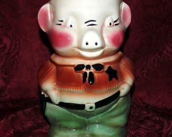 Robinson Ransbottom RRP Co. Sheriff Pig Cowboy Cookie Jar Replacement Bottom