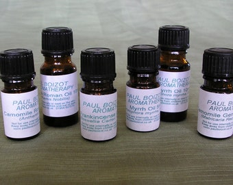 Essential Oils - Frankincense, Myrrh, Chamomile Roman & German