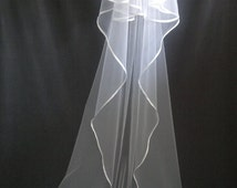 Cathedral Veil,Two Layers, White