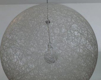 Stunning wicker ball LAMP SHADE that glows at night! (white or plum coloured available)