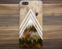 Chevron Dense Forest Tree Bark Wood Case Nature iPhone 6 iPhone 6 Plus Tough iPhone Case Galaxy S7 Samsung Galaxy Case Printed CASE ESCAPE