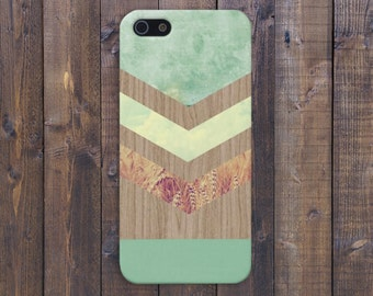 Chevron Green Marble x Fall Harvest Wood Case for iPhone 6 6 Plus iPhone 7  Samsung Galaxy s8 edge s6 and Note 5  S8 Plus Phone Case