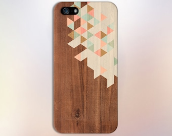 Geometric Pastel Colored Wood Blocks Phone Case,iPhone X, iPhone X Plus, Tough iPhone Case, Galaxy s8 Samsung Galaxy Case Note 8 CASE ESCAPE