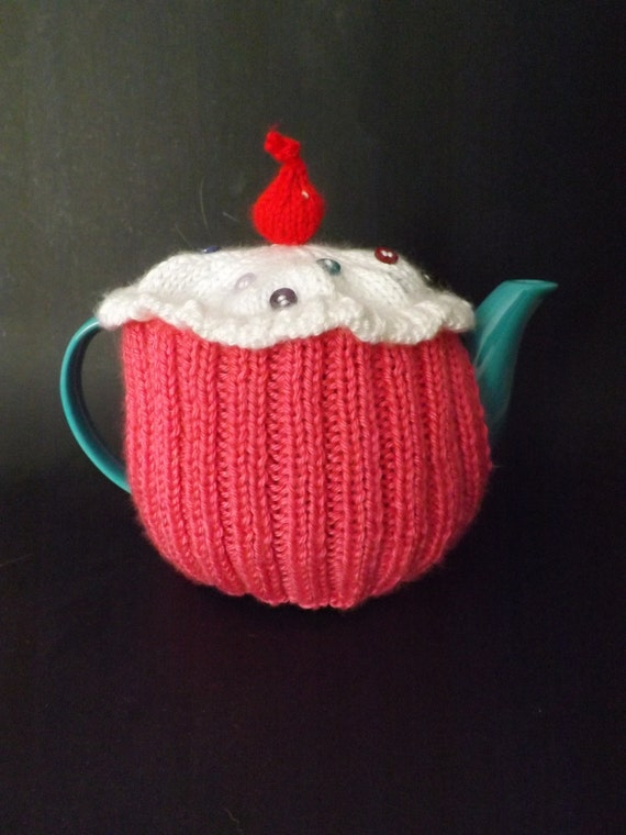 Knit Cupcake Teapot Cozy Knit Teapot Cosy Knitted Tea Cosy