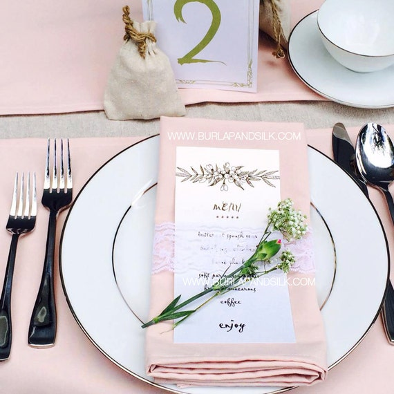 150 Blush Napkins For Weddings Custom By BurlapAndSilkCompany