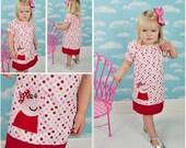Peppa Pig Peasant Dress, Peppa Pig Applique Dress, Peppa Pig Birthday Dress,Peppa Pig Polka Dot Dress