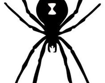 Black Widow Spider - Home/Laptop/Computer/Phone/Car Bumper Sticker Decal