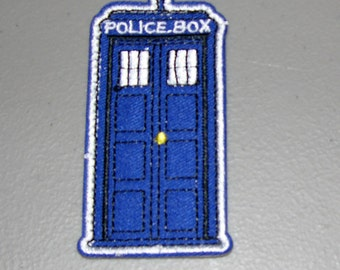 Tardis Police Box Patch - Iron On or Sew On - Dr. Who