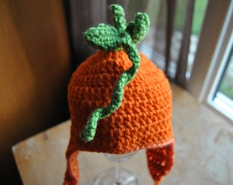 Baby Pumpkin Hat for Thanksgiving Halloween