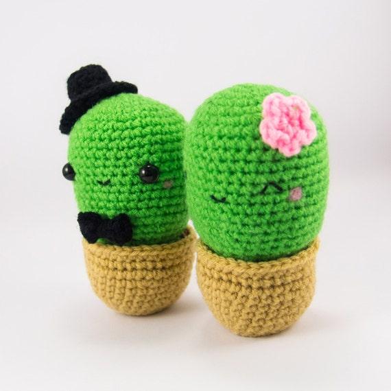 Etsy Amigurumi Cactus : Amigurumi Cactus Couple amigurumi wedding amigurumi