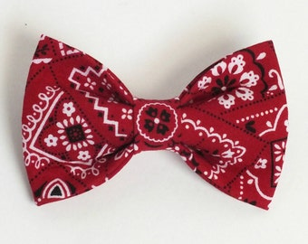 Red Bandana Dog Bow Tie