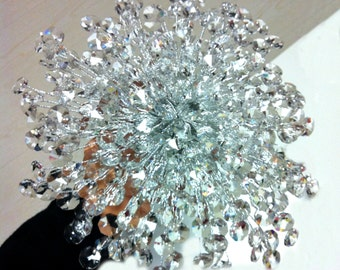 Crystal wedding bouquet clear crystal