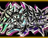 Graffiti Canvas from graffiti artist ASYRT