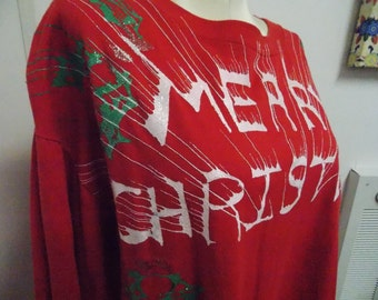 Ugly Christmas Tacky Gaudy Longsleeve Shirt Adult Size Large by Sunbelt