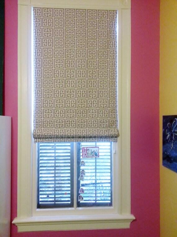 Flat Roman Shades For Windows : Custom flat roman shade window treatment by