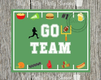 8x10 Go Team Football / Game Day / Super Bowl / Printable / Sign / Art / Party*INSTANT DOWNLOAD*