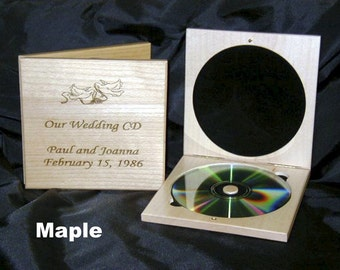 Personalized Wooden DVD Cases, Wedding gift, Bridal Party gift, Parents of newlyweds, Business, Charity, Promotion, Graduation, Thank You