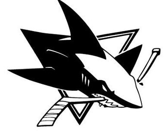 Popular items for sharks hockey on etsy for San jose sharks coloring pages
