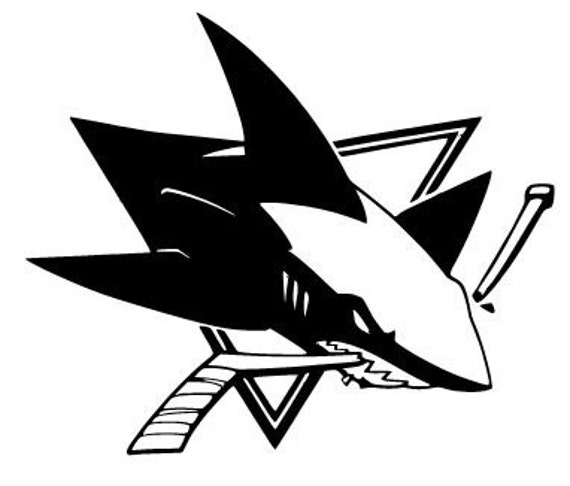 San jose sharks vinyl decal sticker hockey nhl car window for San jose sharks coloring pages