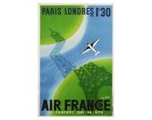 Vintage Paris Travel Poster Print  - Design 004- Giclée - Photo Print 12 x 18