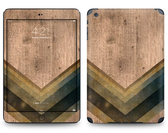 Rustic Wood Chevron - Apple iPad Air 2, iPad Air 1, iPad 2, iPad 3, iPad 4, and iPad Mini Decal Skin Cover