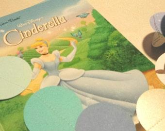 "Princess Cinderella 3D Paper Garland recycled  2"" circle paper garland 10' disney princess party decoration Princess paper garland"