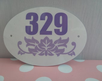 Personalised Door Number Sign - Custom Made to Your Design
