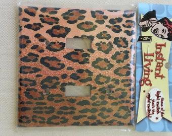 Vintage Winky&Dutch Leopard | LIGHTSWITCH PLATE | Double