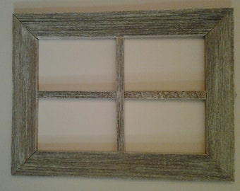 Old weatherwood window frame