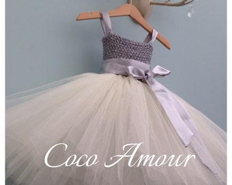 Tutu Style Flower Girl Dress, more colours available, 0-12m, 12-24m, ages 2,3,4,5,6,7,8,9,10. Wedding, young Bridesmaid